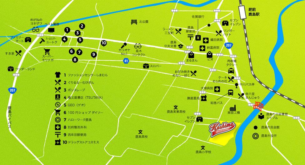 地図:鹿島自動車学校周辺